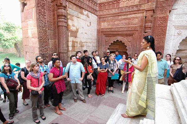 Indic CLS students at Delhi tour