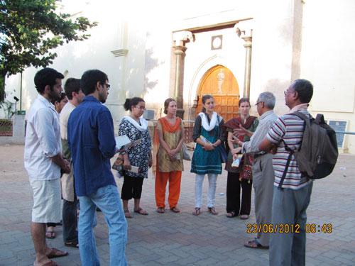 Tamil participants at a heritage walk