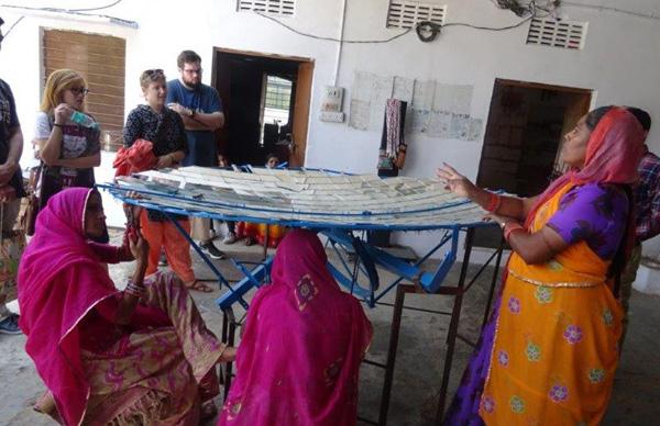 Students visiting NGO
